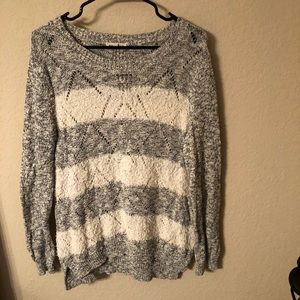 Rebecca Taylor Striped Oversized Sweater